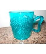 """Hard Plastic Transparent Blue Fish  4.5"""" Tall X 3.75 Diam - $4.55"""