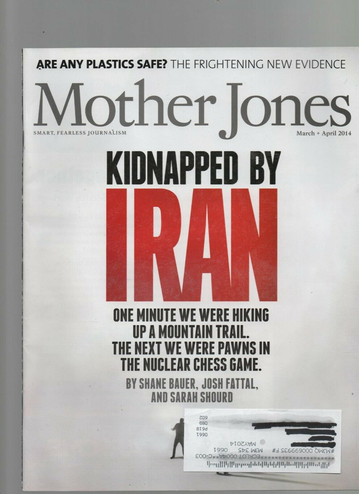 Primary image for Mother Jones  March / April 2014 Kidnapped by Iran, Plastics Safe?, Bobby Jindel