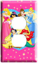 NEW DISNEY PRINCESSES CINDERELLA JUSMIN SNOW WHITE BELL OUTLET COVER WAL... - $8.99