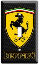New Ferrari Car Scuderia Shield Simbol Emblem Logo Light Switch Wall Plate Cover - $8.99