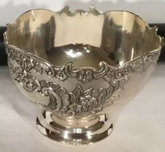 F.B. Rogers silverplate footed 3.5 x 5 Floral Bowl - $39.55