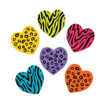 Rubber Animal Print Heart Erasers School Supplies Party Favors Gifts - $4.89+
