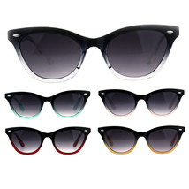 Womens Narrow Horn Rim Boyfriend Plastic Gradient Sunglasses - $9.95