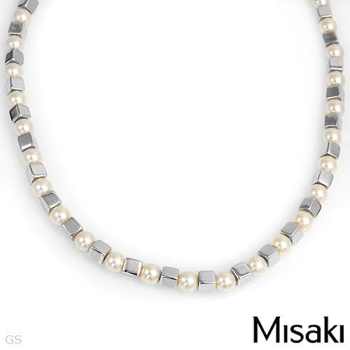 MISAKI NECKLACE WITH FAUX PEARLS DESIGNED IN 925 STERLING SI