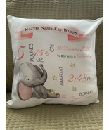 Personalised Baby Birth details cushion  - $21.00