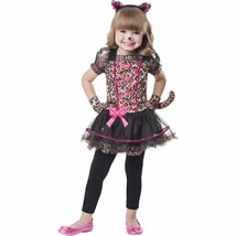 NEW Girls 2T Halloween Costume Lovely Little Leopard 5 Piece Costume Dre... - $12.99