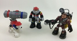 Rescue Heroes Firefighters 6pc Lot Action Figures Toy Talking Tool Fishe... - $19.55