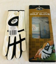 Golf Glove Mens Left L Athletic Works Hydrolyte Synthetic White Black New - $4.46