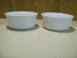 Vintage Corning Ware French White Casserole Serving Dishes 500 mL Lot of 2      - $33.66