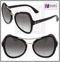 Prada Soft Pop Evolution Gradient Sunglasses 18S Black Gold PR18SS Oversized - $227.70
