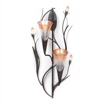 Dawn Lily Double Candle Wall Sconce - $26.51