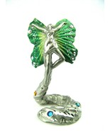 Pewter 1994 Jay Craft Ascending Fairy with Crystal Jewels - $14.80