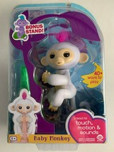 WowWee Fingerlings Original Monkey Sophie White w/ Pink Hair and Bonus S... - $12.86