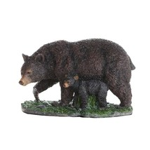 Black Bear and Bear Cub Collectible Figurine Statue Home Decor Gift - £21.15 GBP