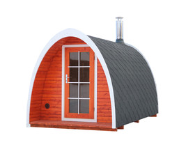 BZBCabins Sauna Kit Igloo 40,  8 Persons, Changing Room , Harvia M3 Heater - $8,900.10