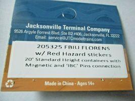 "Jacksonville Terminal Company # 205325 FBIU Florns w/Red Hazard Stickers 20"" (N) image 4"