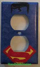 Superman comics Logo Light Switch Duplex Outlet Cover Plate Home decor image 2