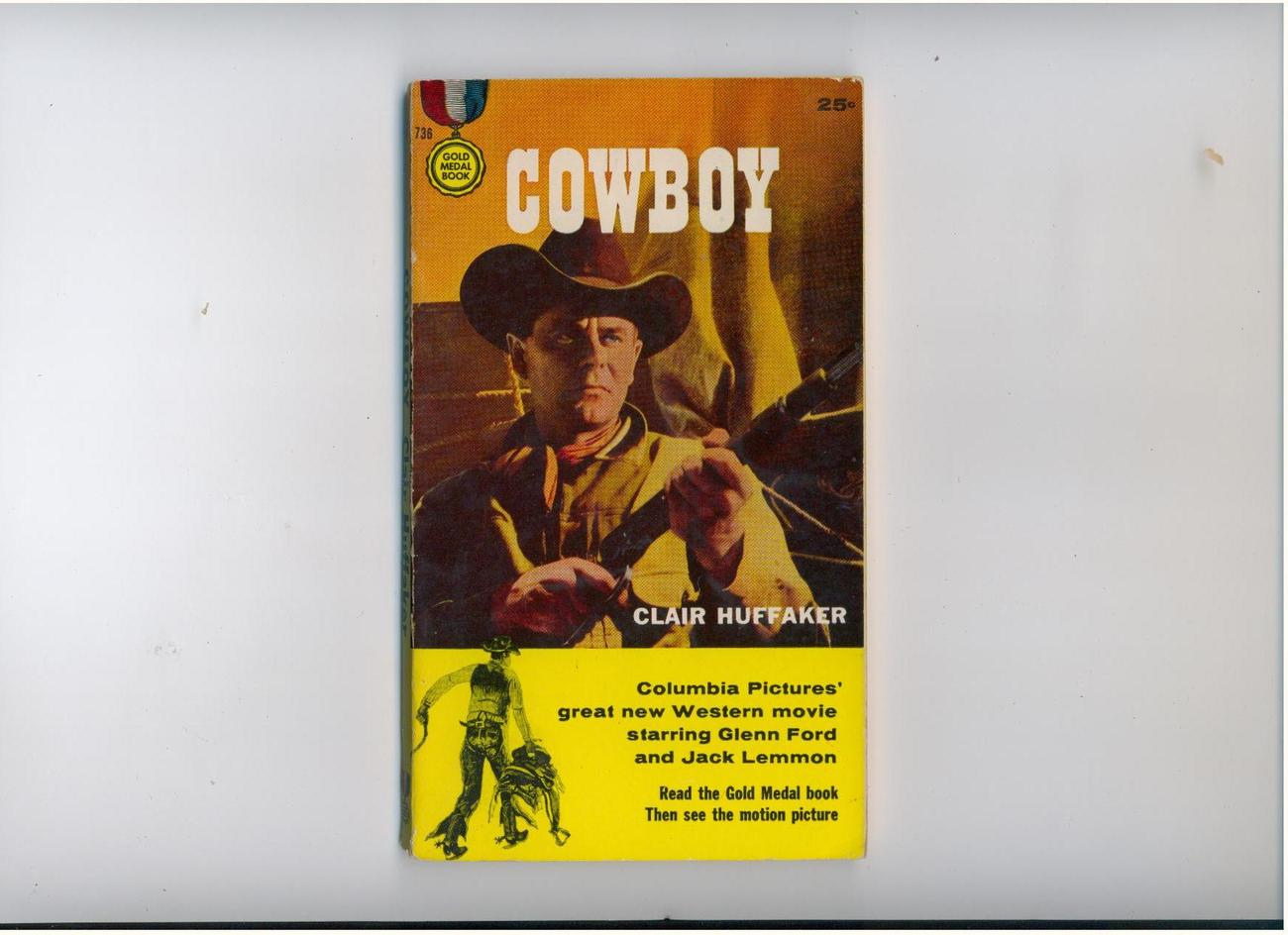 Huffaker - COWBOY - 1958 1st printing - movie tie-in