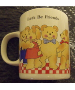 Lets be Friends Ivory Stoneware Coffee or Tea Mug - $4.95