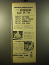 1950 Johnson's Baby Lotion Ad - Science brings new freedom from skin mis... - $14.99
