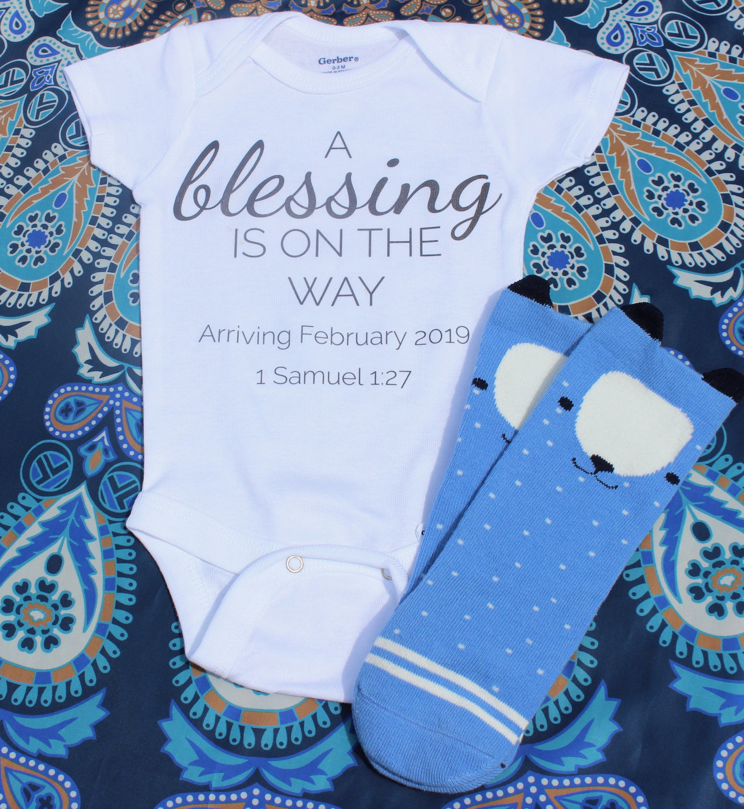 85cc7c1dd Pregnancy Announcement A Blessing is on the and 50 similar items