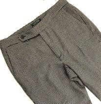 Lauren Ralph Lauren Womens Wool Pants Size 10 Tan Black Houndstooth Trou... - $27.71