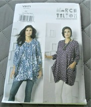 Pattern Vogue Designer Pullover Tunic March Tilton V9171 Uncut Factory F... - $19.78