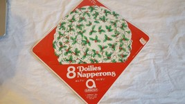 """7 VINTAGE CHRISTMAS PAPER LACE DOILIES NAPPERONS 4/7.5"""", 3/9.5"""", HOLLY B... - $4.94"""