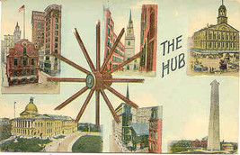 The Hub of The Universe  Boston Vintage 1914 Post Card - $10.00
