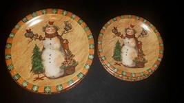 Set of 8 Snowman Plates - $28.71