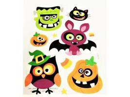 Glittered Halloween Stickers with Googly Eyes!