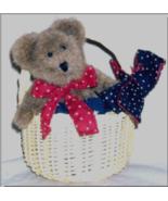 "Boyds Bears ""Iza Basketcase"" 6"" Bear & Basket- #99875V -QVC Exclusive- 2003 - $39.99"