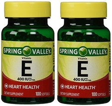 Spring Valley Vitamin E 400 IU, 100 Softgels Pack of 2 - $9.30
