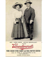 Mr and Mrs Bregant Midget Man and Wife vintage Advertising Post Card - $10.00