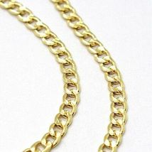 18K YELLOW GOLD GOURMETTE CUBAN CURB CHAIN 2 MM, 19.7 inches, NECKLACE image 3