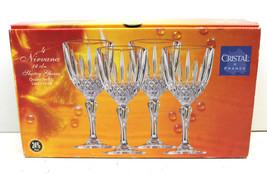 4 pc Cristal France Lead Crystal Nirvanna 12cl Sherry Wine Glasses 24 Pb... - $32.71
