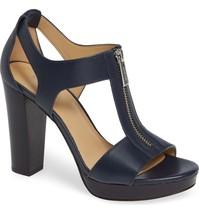 Michael Kors MK Women's Berkley T-Strap Platform Dress Sandals Shoes Admiral