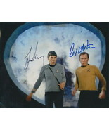 Leonard Nimoy AND Wm Shatner ip- signed Star Trek photo..!! Nice !!Spock & Kirk - $66.95