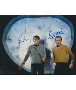 Leonard Nimoy AND Wm Shatner ip- signed Star Trek photo..!! Nice !!Spock & Kirk - $66.95