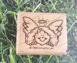 Stampin Up Rubber Stamp 1999 Angel Halo Girl  - $12.86