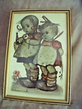 VINTAGE Framed Hummel Little GIRLS Charcoal Print WEST GERMANY 12 1/2 X ... - $24.70