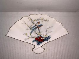 Vintage Jay Fine Porcelain China Decorative Parrots/ Floral Fan Plate 9 ... - $12.50