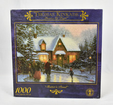 Vtg Thomas Kinkade Skaters Pond Jigsaw Puzzle Painter of Light 1000 pc  - $32.18