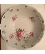 Vintage Floral Porcelain Bowl 8x2.5in - $9.49