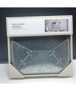 METAL LETTER KEY HOLDER silver wall decor hanging box new mail case orga... - $23.76