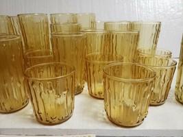 Vtg Anchor Hocking TAHITI Bamboo Honey Gold 16 Oz Beverage Tumblers - Set of 10 - $61.38