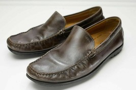 Ecco 10 10.5 Brown Slip On Mocassin Loafer Men's EU 44 - $44.00