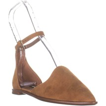 Nine West Oriona Pointed Toe Flat Sandals, Dark Natural, 5.5 US - $29.75
