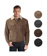 Men's Premium Classic Button Up Fur Lined Corduroy Sherpa Trucker Jacket - $36.95