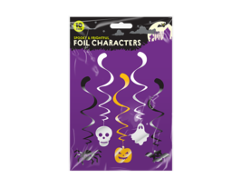 Halloween Swirl Decorations Pack of 10 Spook And Frightful Characters - $3.20